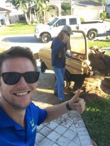 our stump removal process in jupiter florida